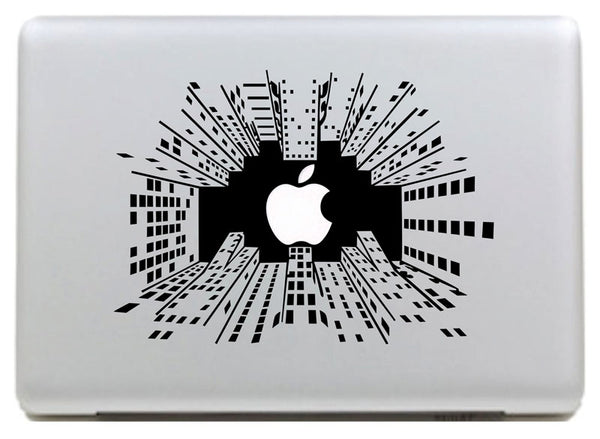 Removable 3D high-rise buildings Vinyl Decal Sticker for Macbook Pro / Air 11 13 15