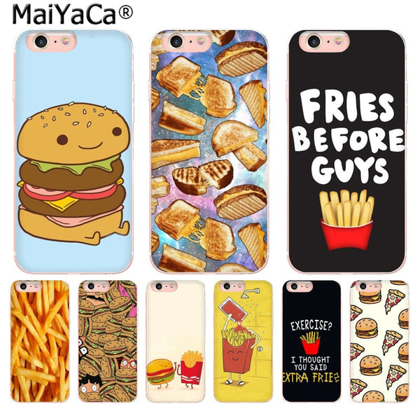 Foodie Burgers & Fries iPhone Sizes (Many Variants & iPhone Sizes Available)