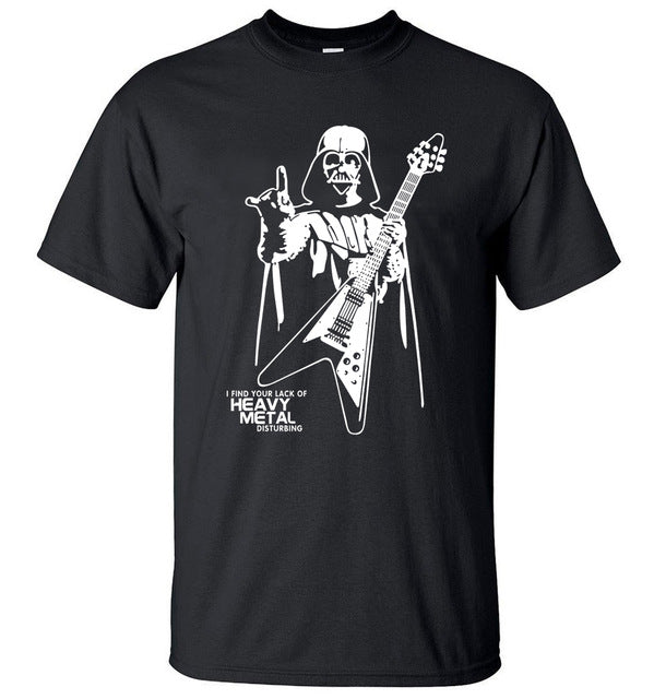 Star Wars Darth Vader Heavy Metal Cotton T-Shirt (Many Variants Available)