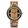 BOBO BIRD Zebra Ebony Wood Watch in Gift Box
