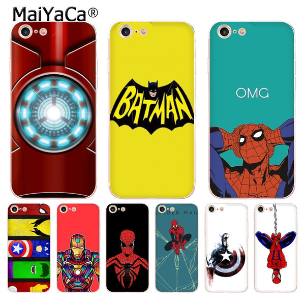 Marvel & DC Comics iPhone Cases (Many Variants & iPhone Models Available)