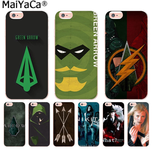 Green Arrow Soft iPhone Cases (Many Variants & iPhone Sizes Available)