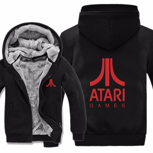 ATARI Fleece Zip-up Hoodie Jacket (Unisex) (Many Variants Available)