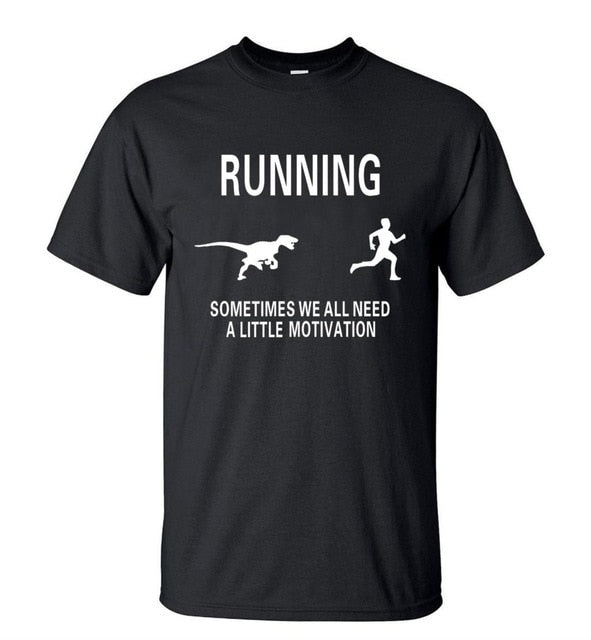 Running Dino Cotton T-Shirt (Many Variants Available)