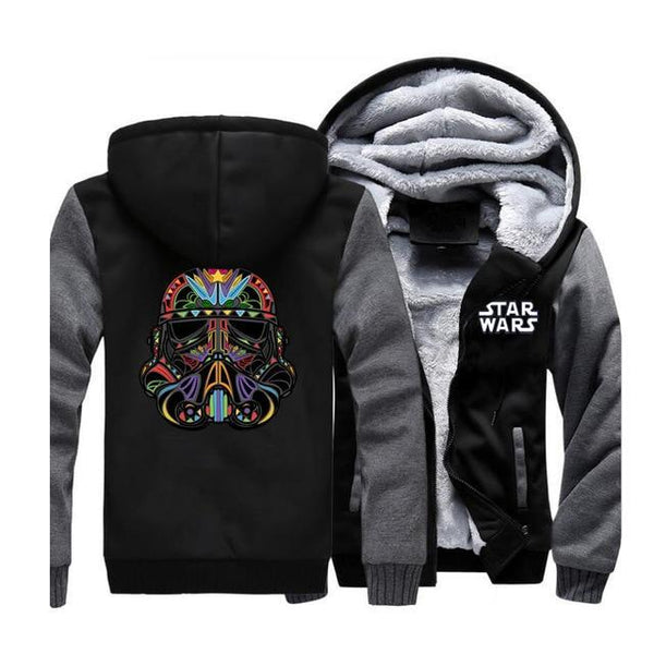 Star Wars Storm Trooper Colorful Fleece Zip-Up Hoodie Jacket (Unisex) (Many Variants Available)