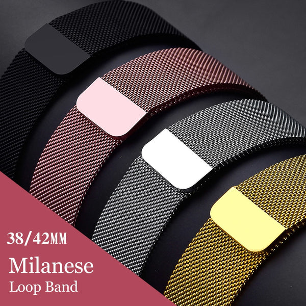 Milanese Loop Band for Apple Watch (Many Variants & Apple Watch Sizes Available)
