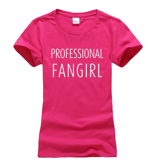 Professional Fangirl Cotton Women's T-Shirt (Many Variants Available)