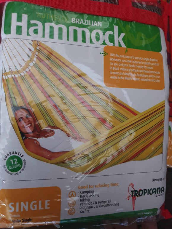 Hammock Woven Brazilian cotton single