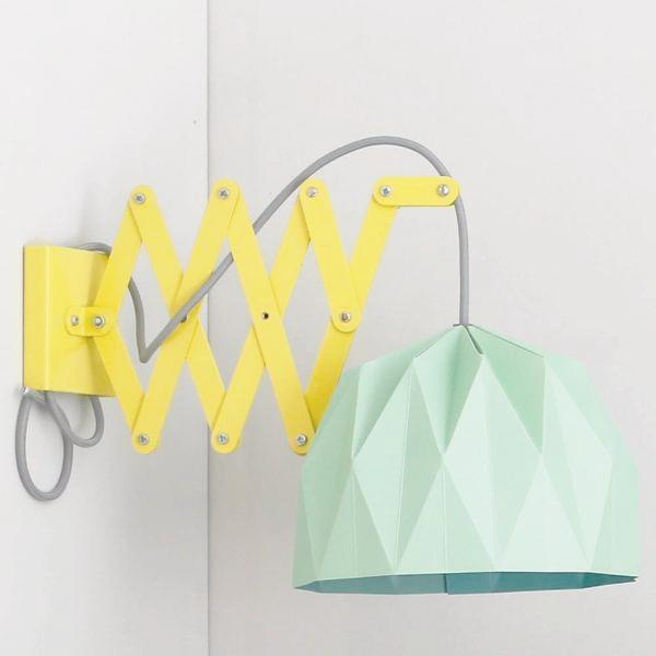 Origami lamp shade with scissor arm diy littlebundlez origami lamp shade with scissor arm diy aloadofball Images