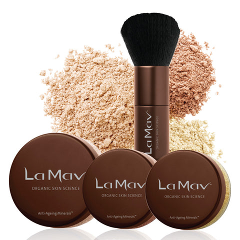 La Mav's Anti-Aging Minerals are infused with Vitamin C and Pure Organic Rosehip Oil to now only give you a flawless finish but also to nourish your skin ...