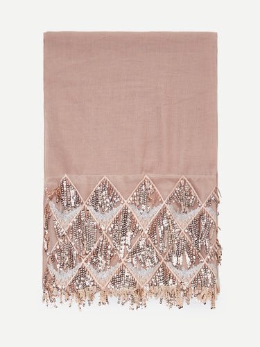 Pink Sequin Scarf (Selling Fast)