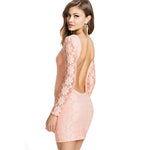Jaune Lace Bodycon Backless Dress