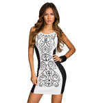 Jaune Black and White Allure Dress