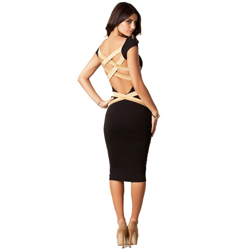Jaune Creme Bandage Dress