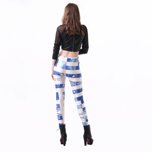 Jaune Greece Flag Leggings