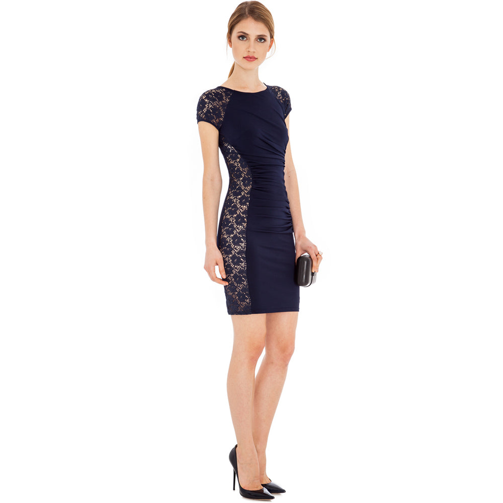 Jaune Lace Your Sides Hot Dress