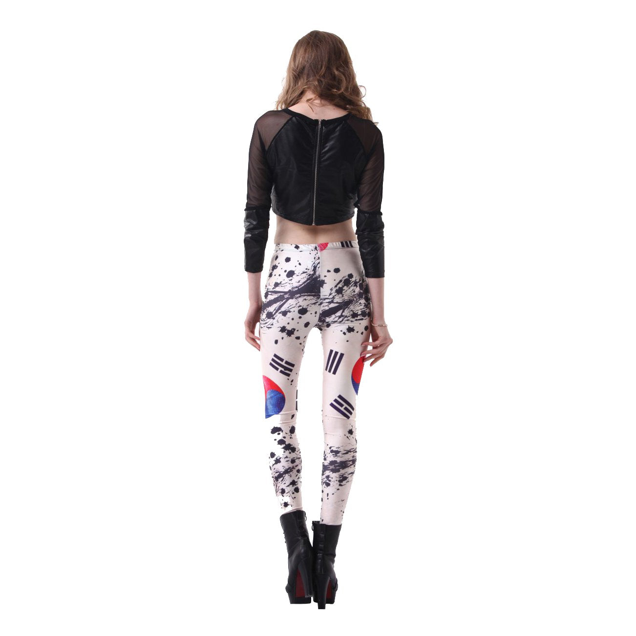 Korean Flag Digital Print Leggings