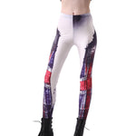 England Flag Digital Print Leggings