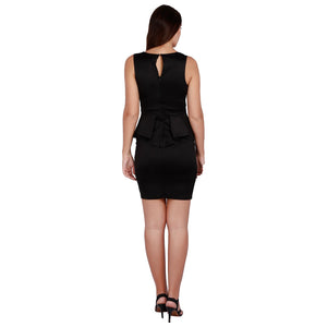 Jaune Black Edition Peplum Dress