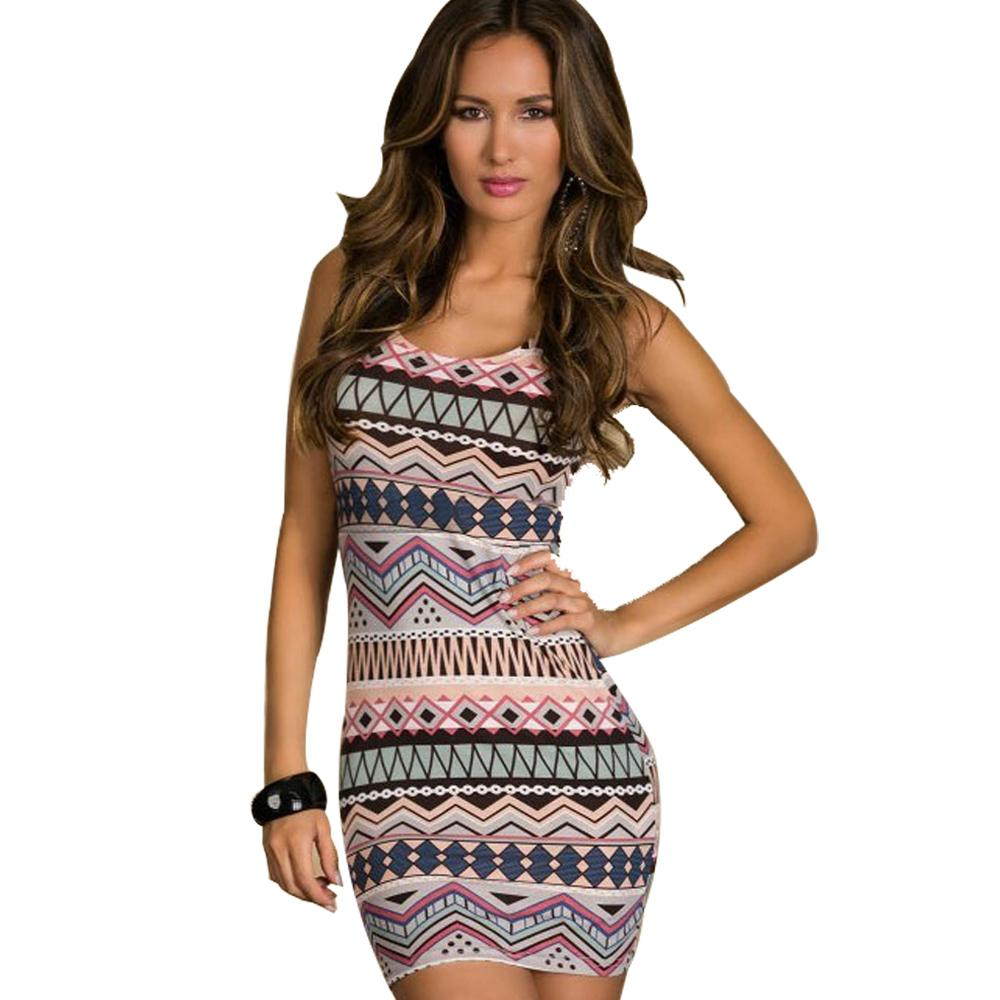 Jaune Aztec Print Bodycon Dress