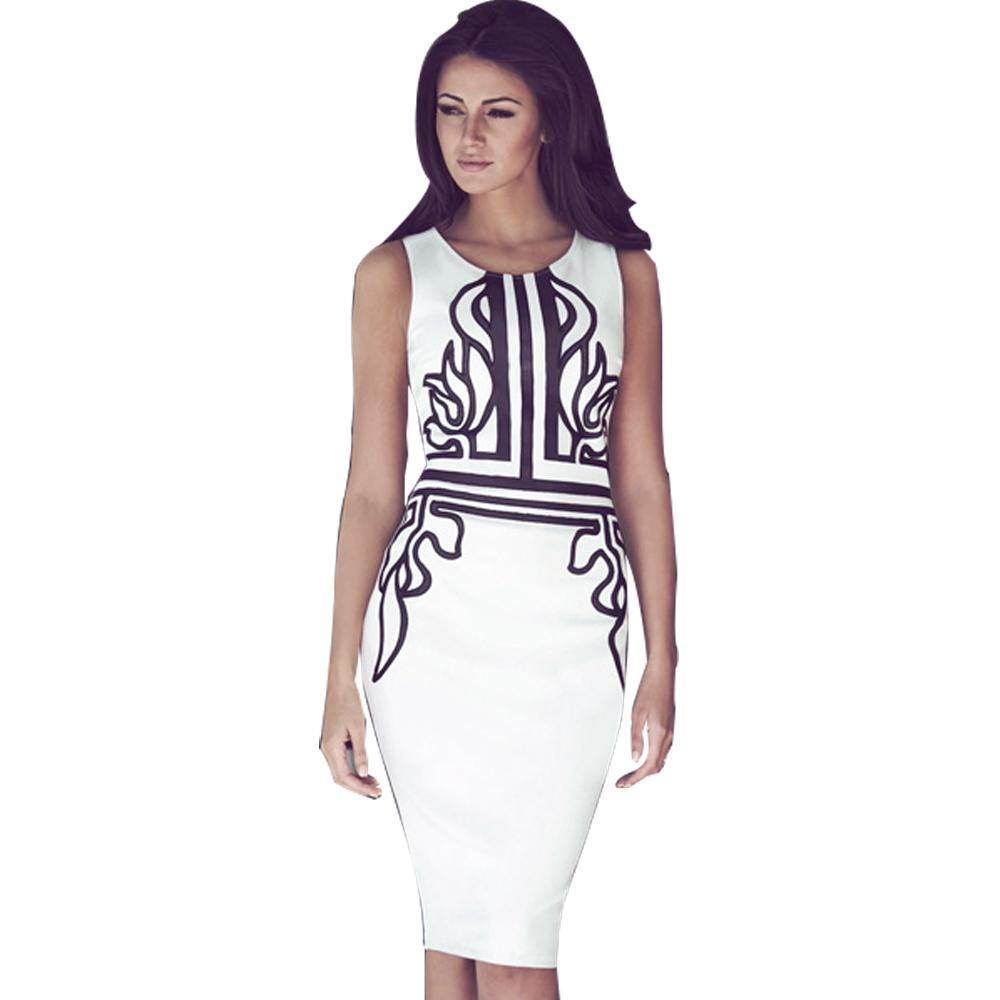 Jaune Asteria White Sheath Dress