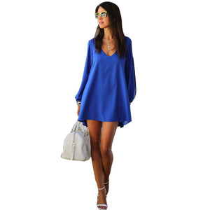 Jaune Viva La Beach Long Hi-Lo Tunic Top - Cobalt Blue