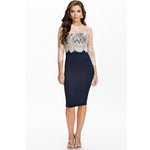 Jaune Lace Affair Midnight Blue Dress