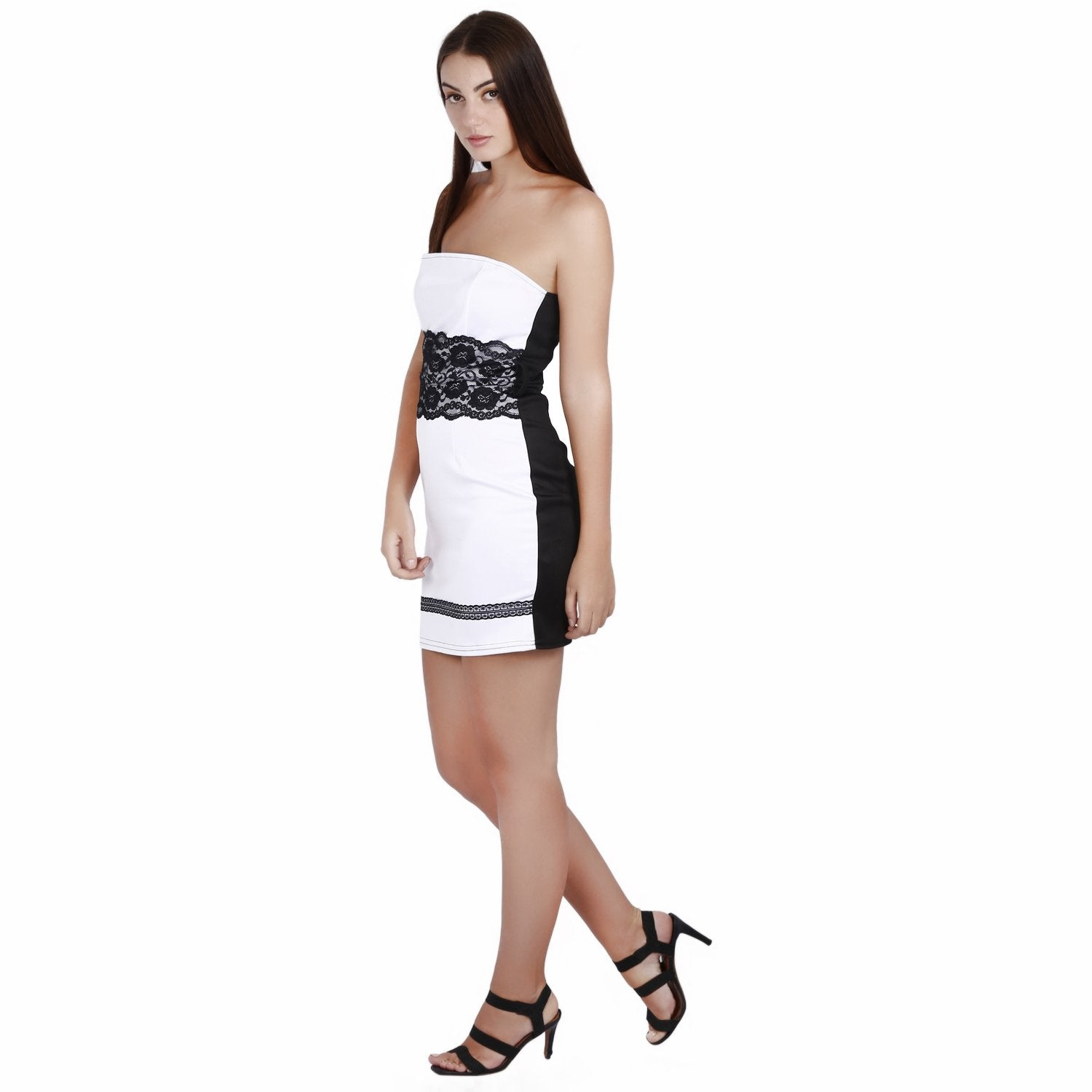 Jaune Black and White Two Faced Tube Dress