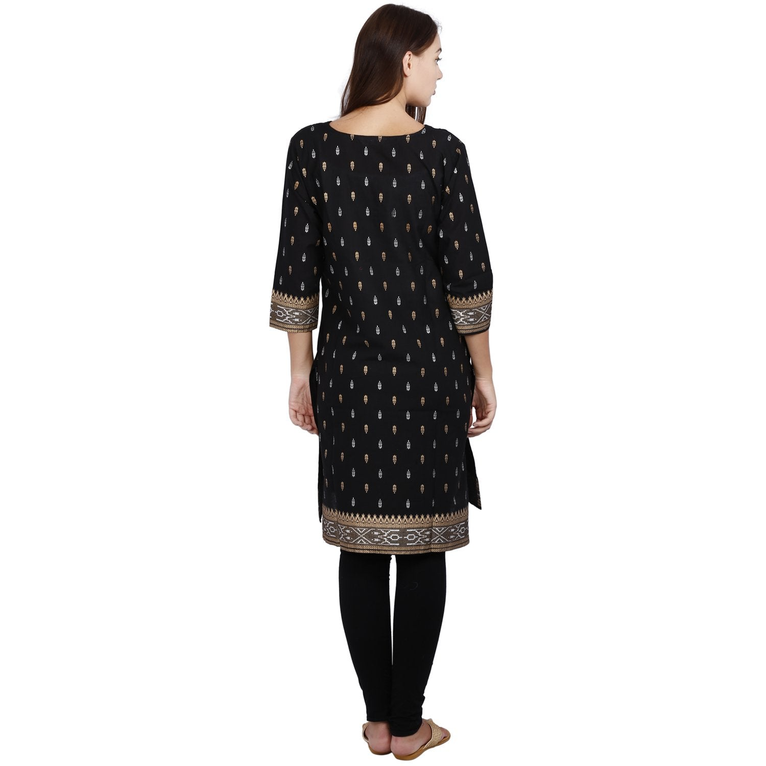 Jaune Black and Gold Egyptian Indulgence Kurta