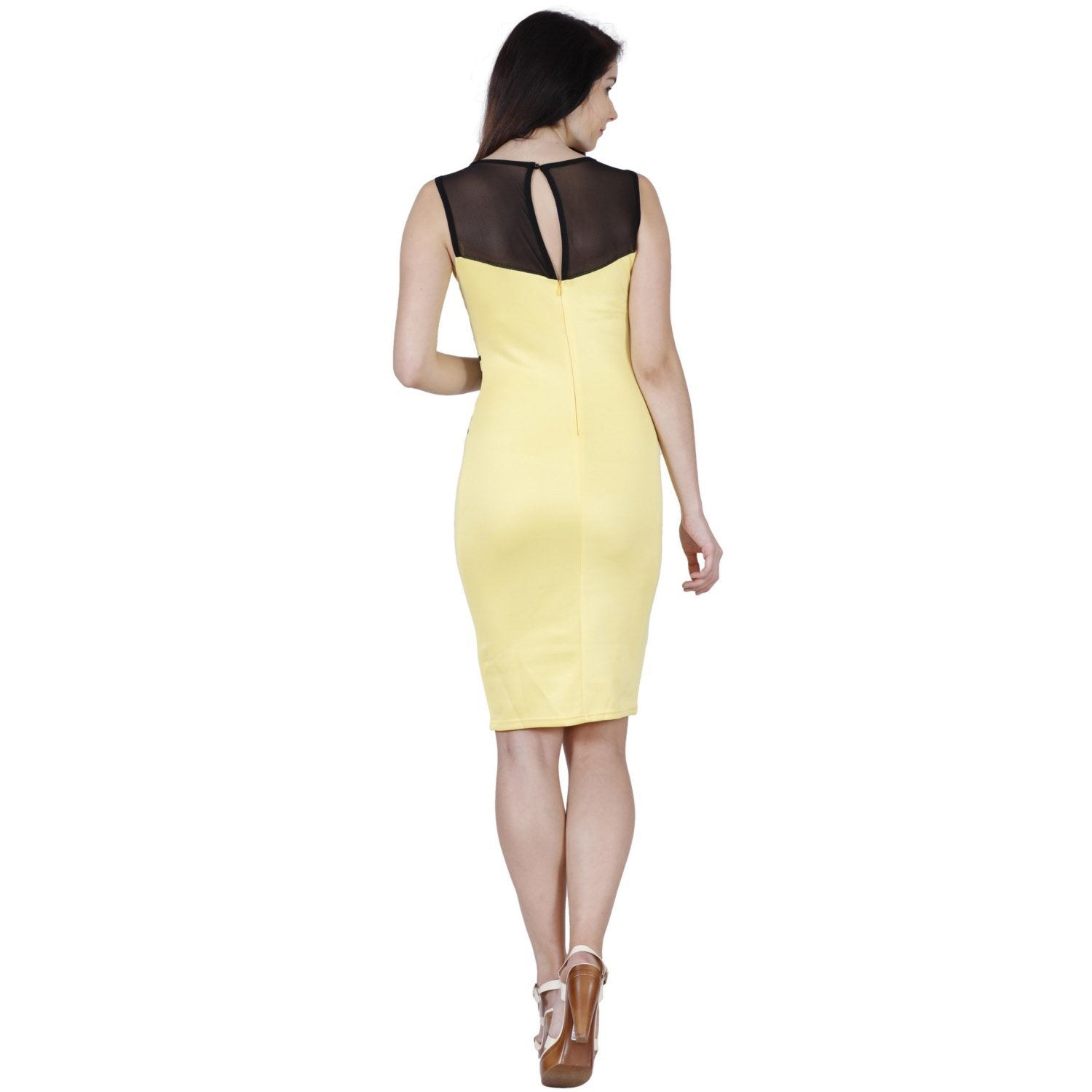 Jaune Asteria Canary Sheath Dress