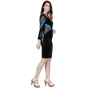 Jaune Enticing Velvet Bodycon Dress