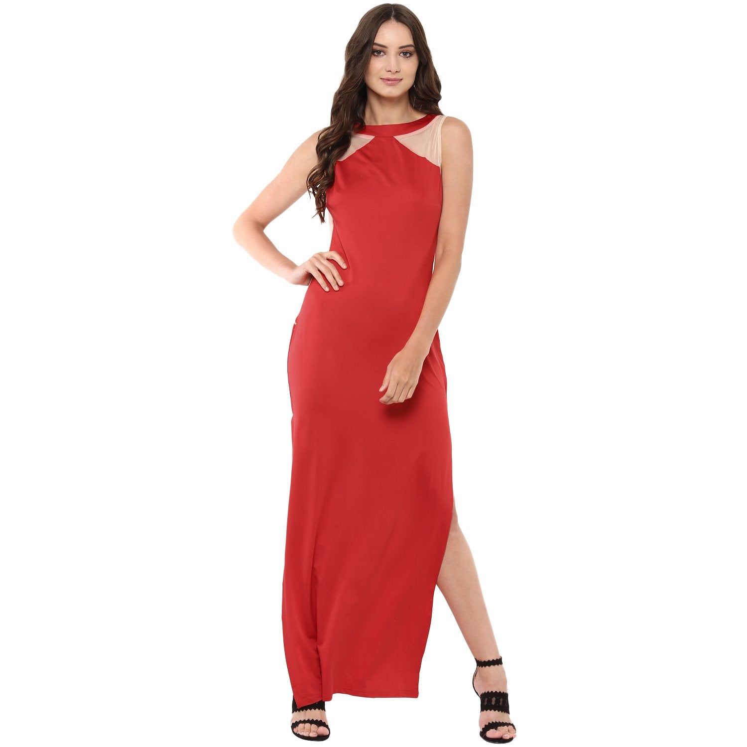 JAUNE DARE BACK JENNIFER LOPEZ GOWN - Red