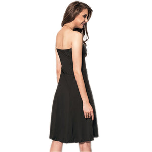 Jaune Black Tube Skater Dress