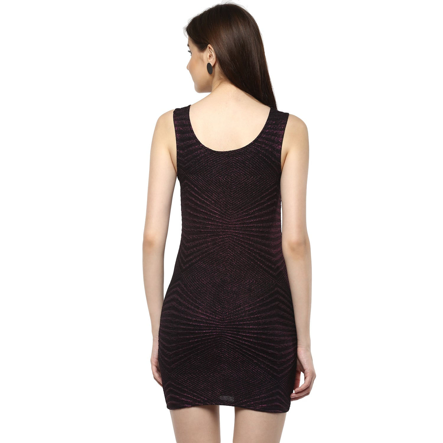 Jaune Black Pink Shimmery Sheath Dress
