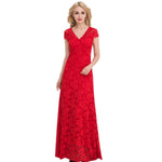 Jaune French Lace V Neck Empire Waist A Line Cocktail Gown