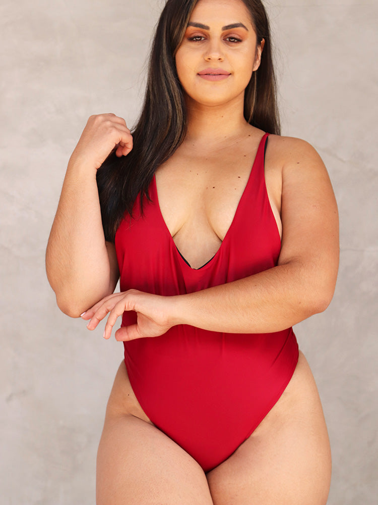 6ef416fe5e Sexy Basic Solid Swimsuit – WhatsMode