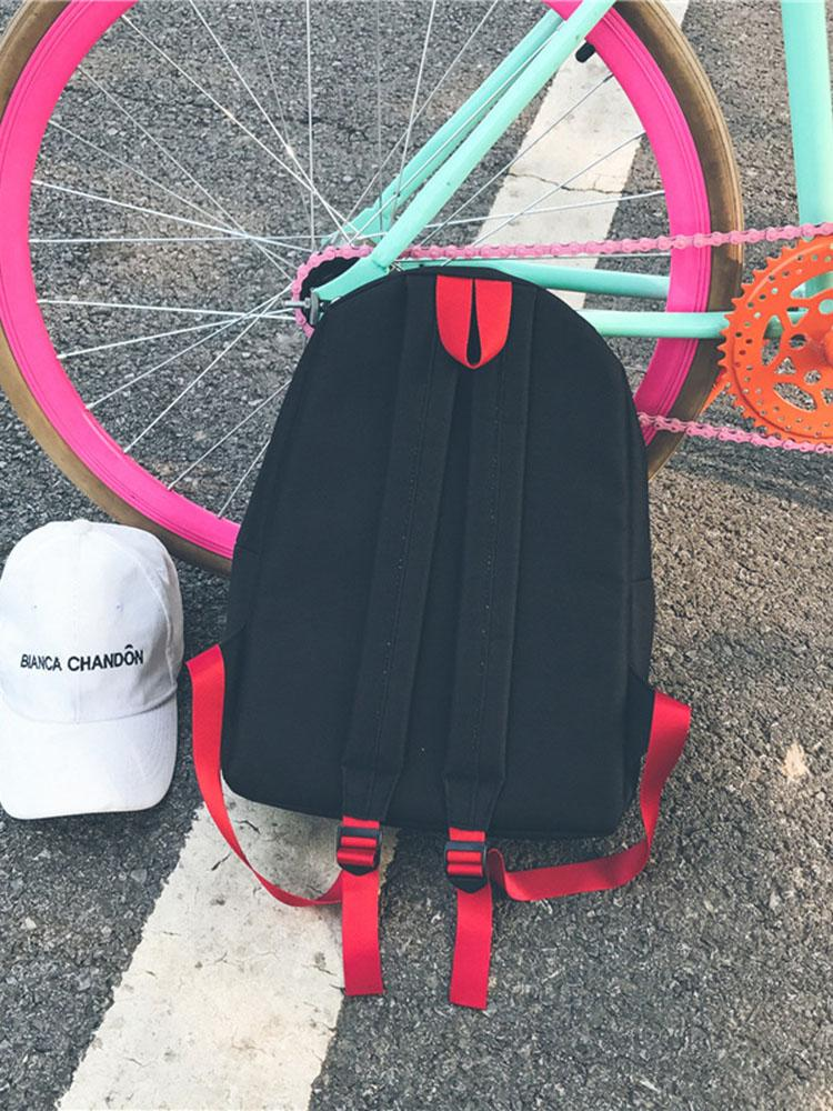 Casual Nylon Backpack with Detachable Purse