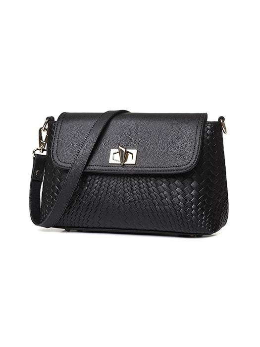 Croc Print Solid Color Cross Body Bag