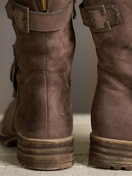 Vintage Warm Brown Snow Boots