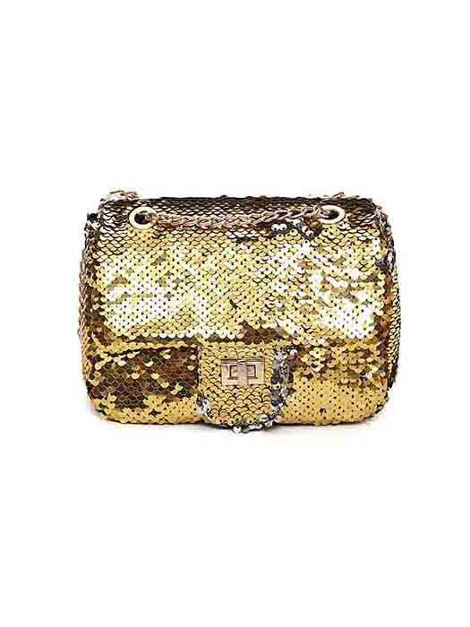 Sequins Covered Cross Body Bag