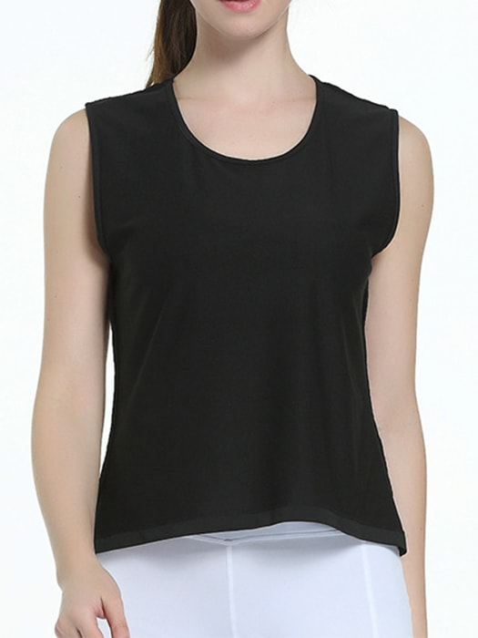 Hollow Out And Mesh In Back Yoga Vest Top