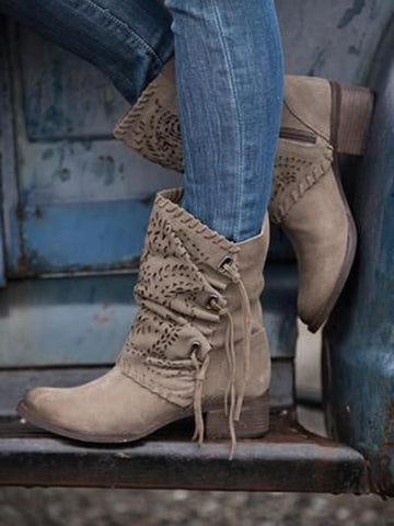 High Heeled Sock Boots