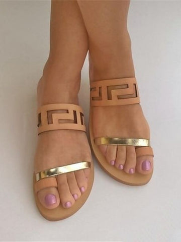 3e1d7ac06 Donut Peep-toe Flat Sandal.  22.50 USD. Greek Style Toe Ring Sandals