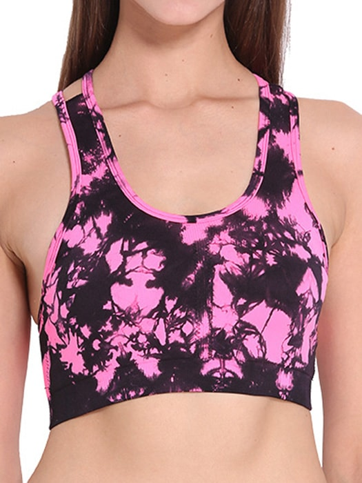 Classic Floral Pattern Sports Bra Top