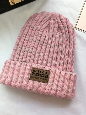 Turn-up Laser Knit Hat