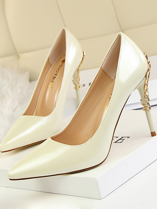 Patent Point Toe High Heels