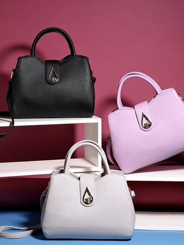 Faux Leather Tote Bag Set