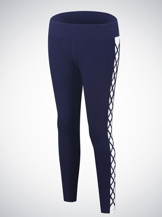 Lace Up Pattern Side Active Legging