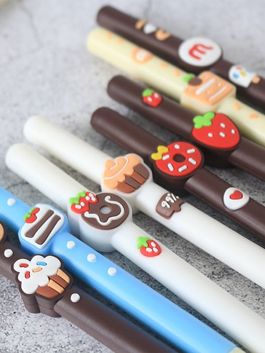 Colorful 3D Pattern Style 0.35mm Black Pen