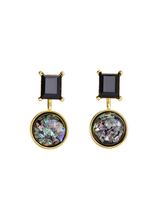Eyes of Black Stone Earring